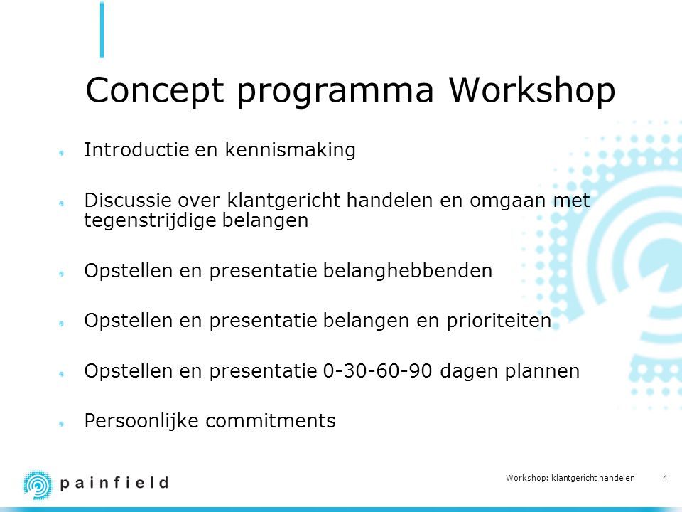 Concept programma Workshop