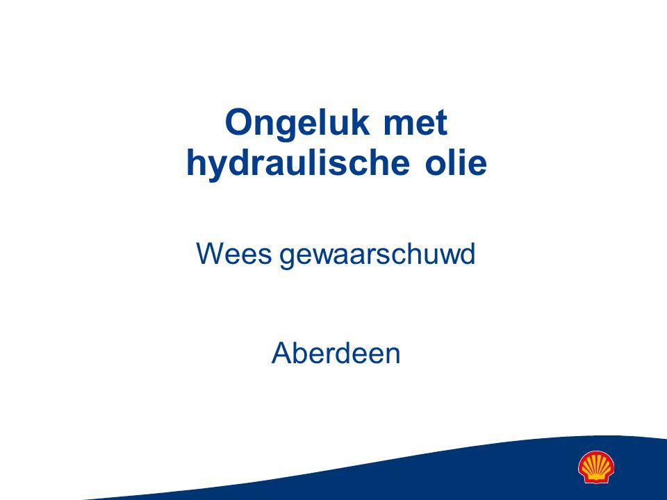 Ongeluk met hydraulische olie