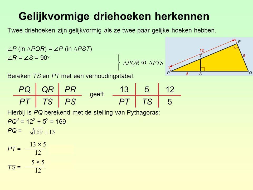 Gelijkvormige driehoeken herkennen