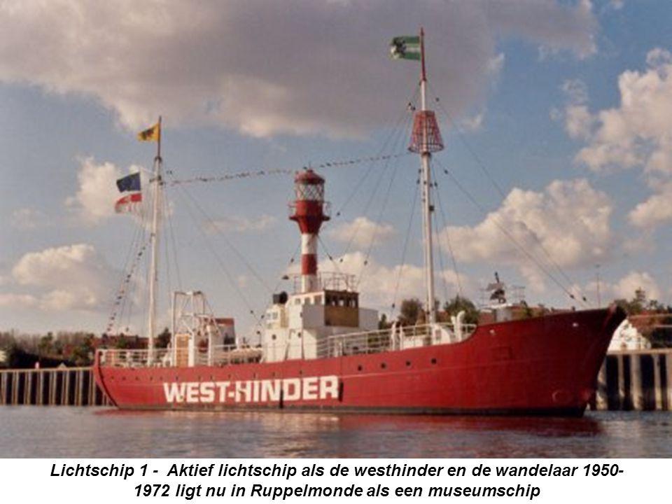 Lichtschip 1 - Aktief lichtschip als de westhinder en de wandelaar 1950-1972 ligt nu in Ruppelmonde als een museumschip
