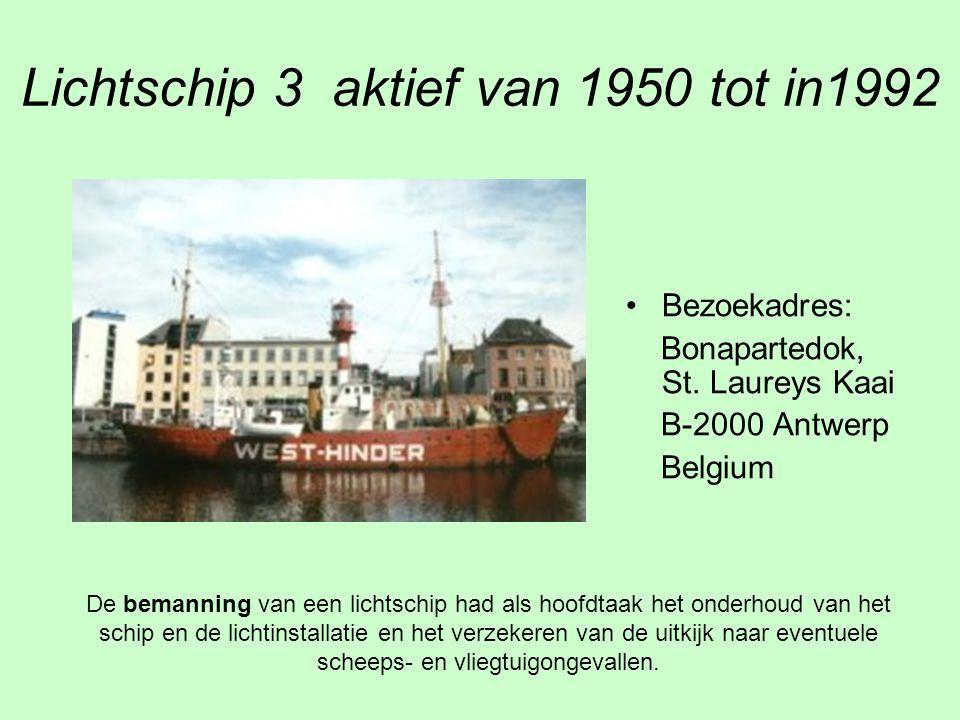 Lichtschip 3 aktief van 1950 tot in1992