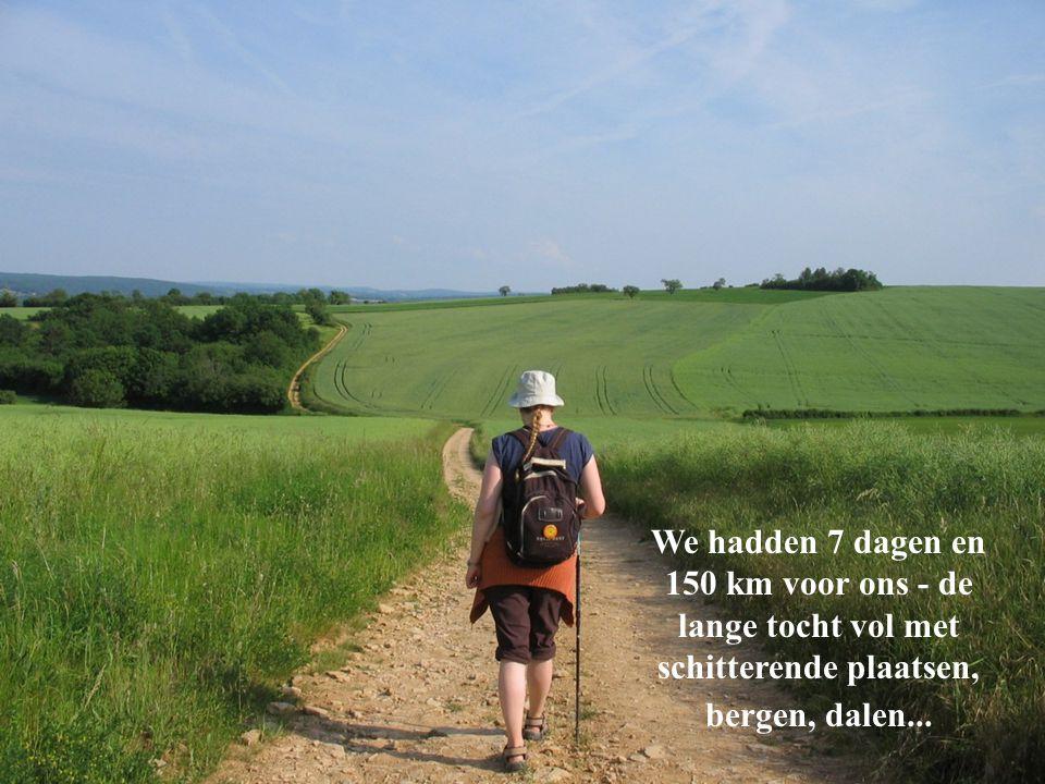 We hadden 7 dagen en 150 km voor ons - de lange tocht vol met schitterende plaatsen, bergen, dalen...