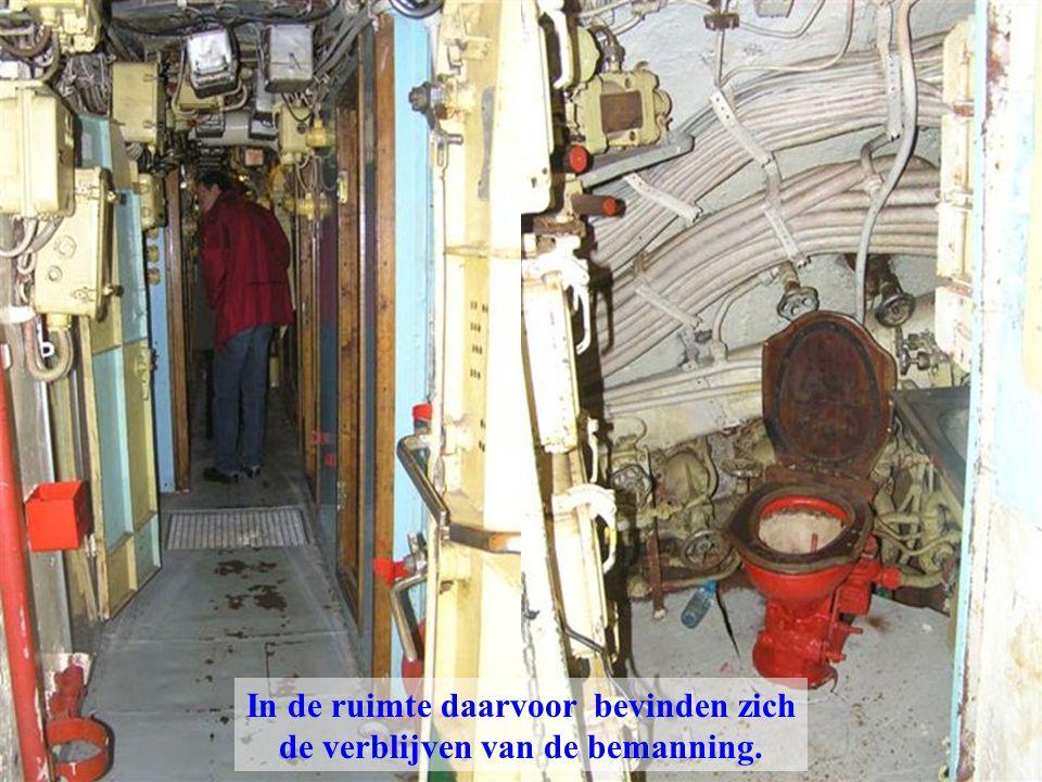 In de ruimte daarvoor bevinden zich de verblijven van de bemanning.