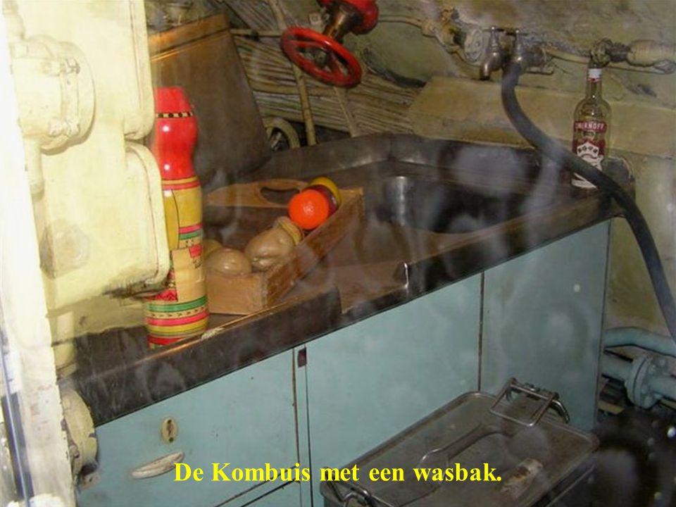 De Kombuis met een wasbak.
