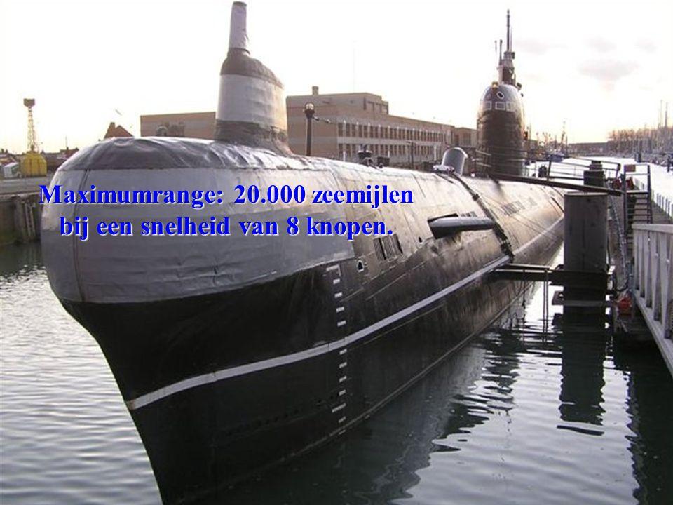 Maximumrange: 20.000 zeemijlen bij een snelheid van 8 knopen.