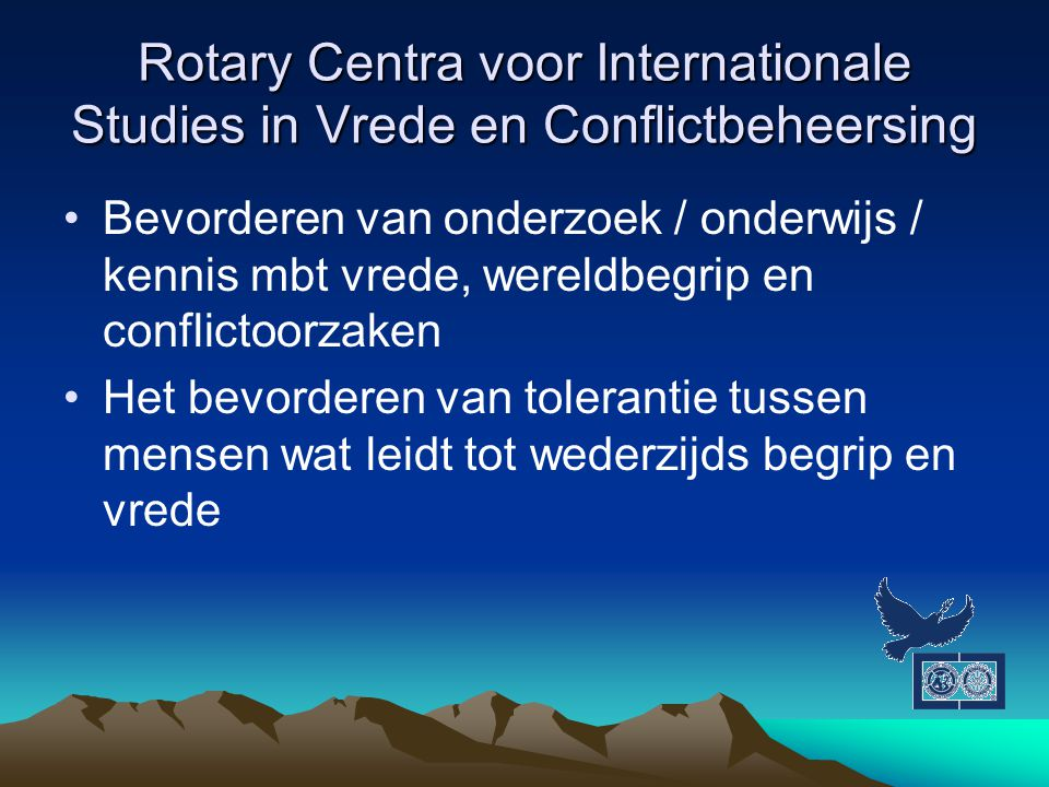 Rotary Centra voor Internationale Studies in Vrede en Conflictbeheersing