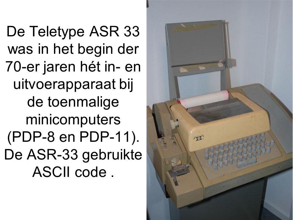 De Teletype ASR 33 was in het begin der 70-er jaren hét in- en uitvoerapparaat bij de toenmalige minicomputers (PDP-8 en PDP-11).