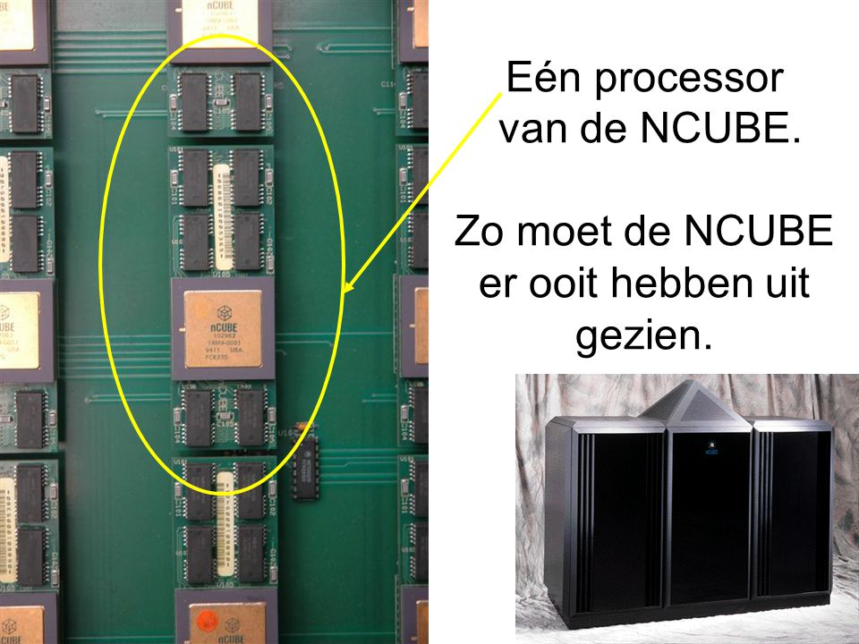 Eén processor van de NCUBE. Zo moet de NCUBE er ooit hebben uit gezien.