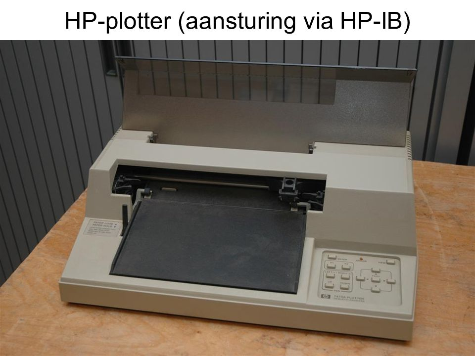 HP-plotter (aansturing via HP-IB)