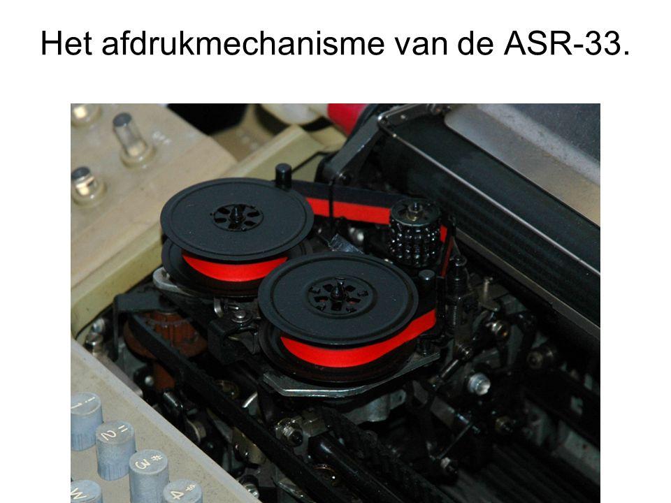 Het afdrukmechanisme van de ASR-33.