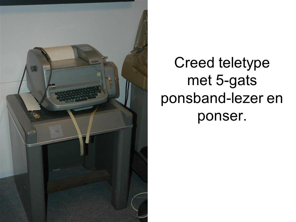Creed teletype met 5-gats ponsband-lezer en ponser.