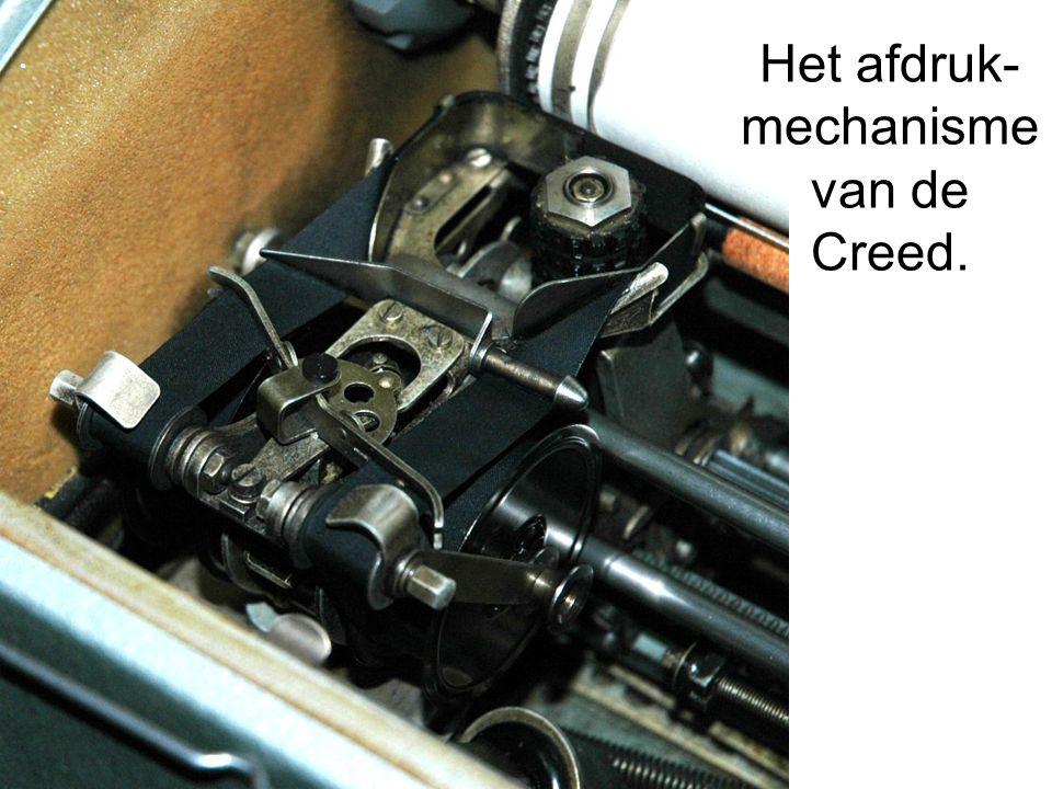 Het afdruk-mechanisme van de Creed.