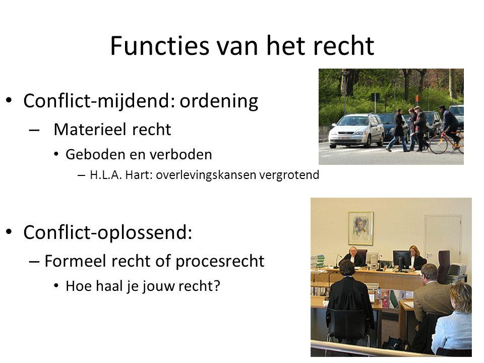 Functies van het recht Conflict-mijdend: ordening Conflict-oplossend: