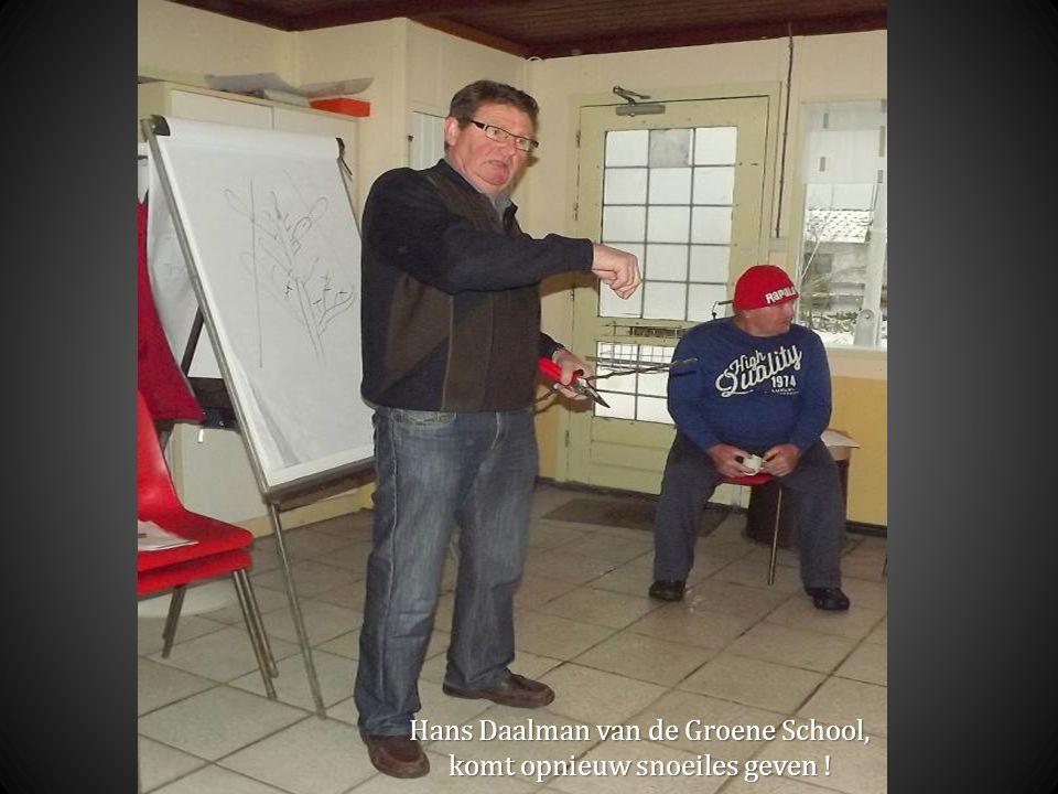 Hans Daalman van de Groene School, komt opnieuw snoeiles geven !