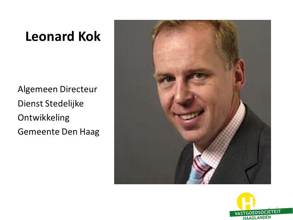 Leonard Kok Algemeen Directeur Dienst Stedelijke Ontwikkeling