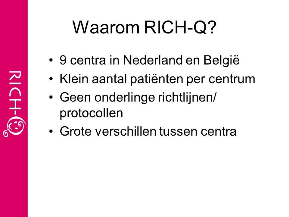Waarom RICH-Q 9 centra in Nederland en België