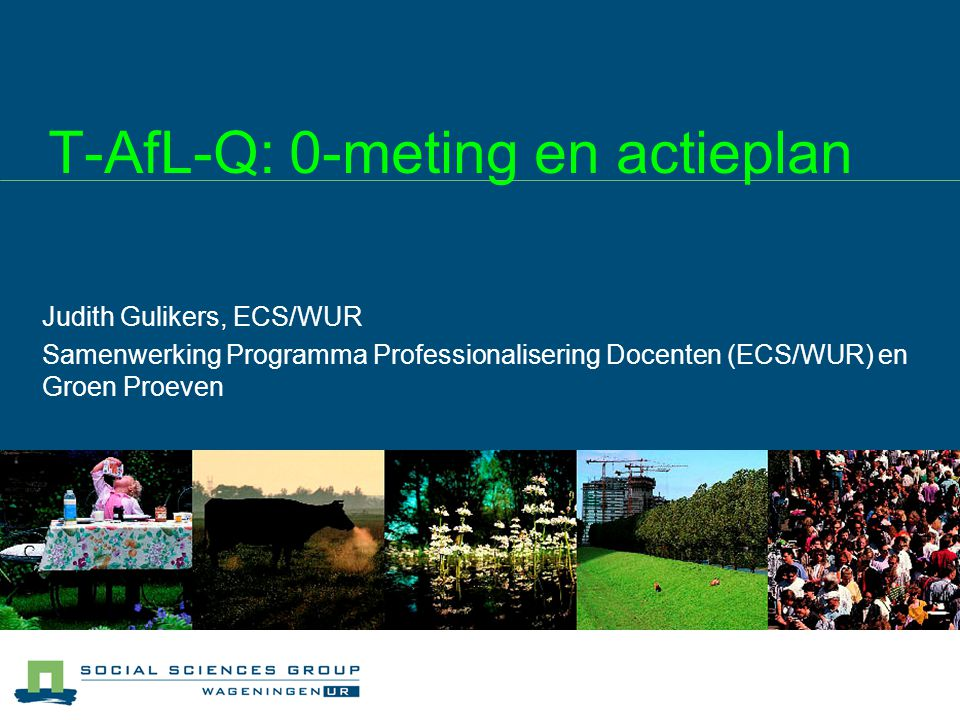 T-AfL-Q: 0-meting en actieplan
