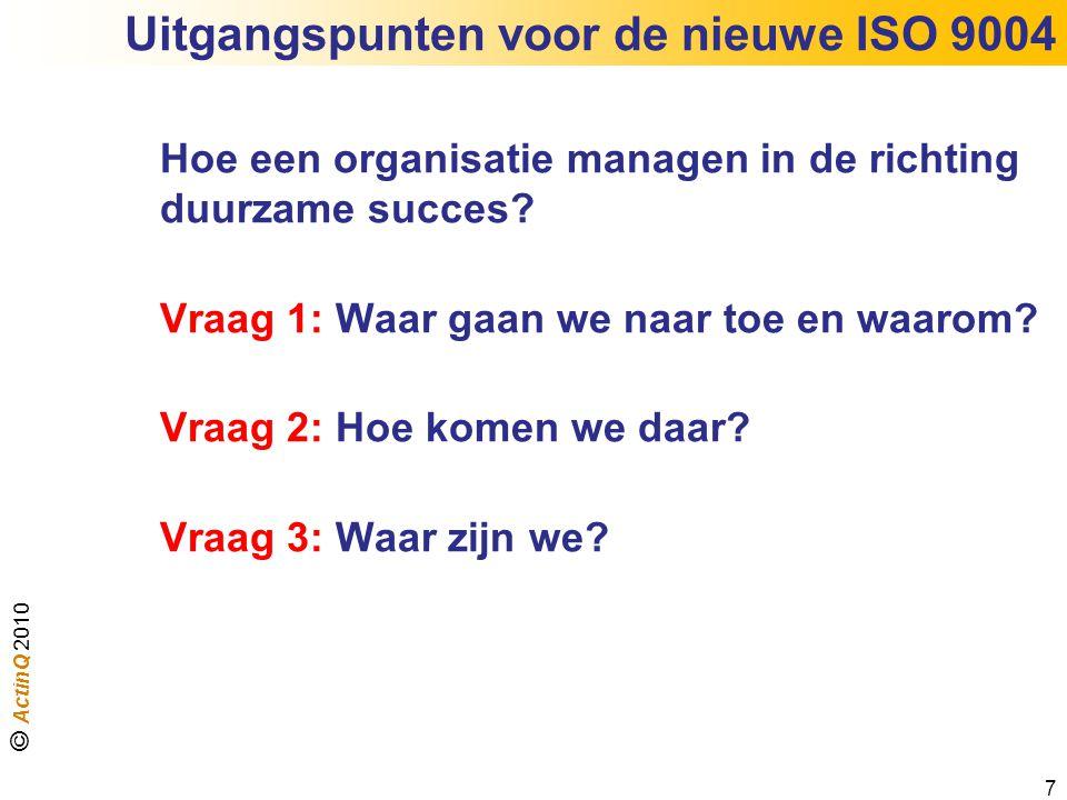 Uitgangspunten voor de nieuwe ISO 9004