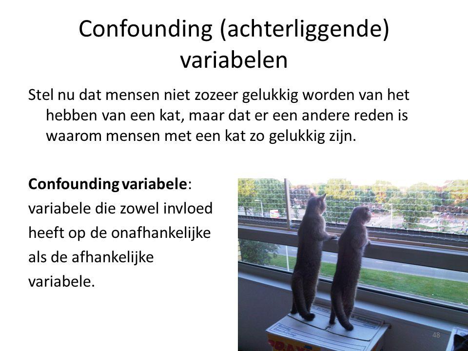 Confounding (achterliggende) variabelen