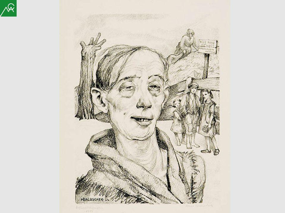 Hans Baluschek Portrait einer Säuferin