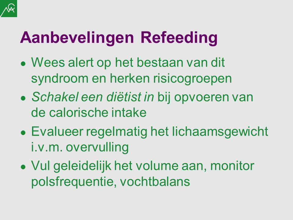 Aanbevelingen Refeeding