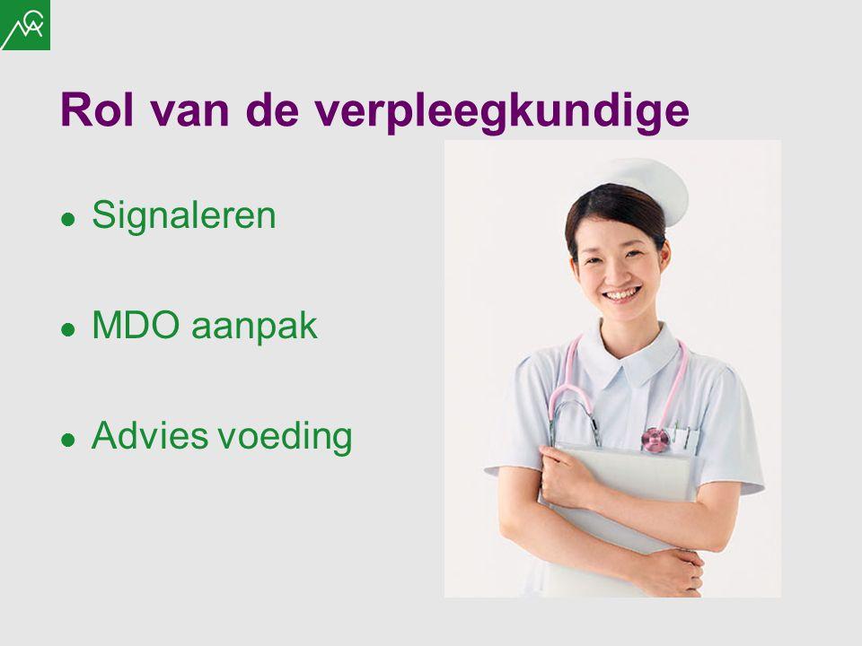 Rol van de verpleegkundige