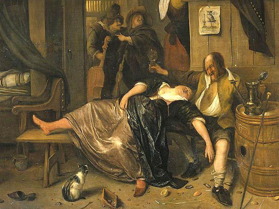Het dronkenpaar van Jan Steen 1665