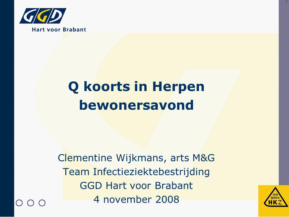 Q koorts in Herpen bewonersavond