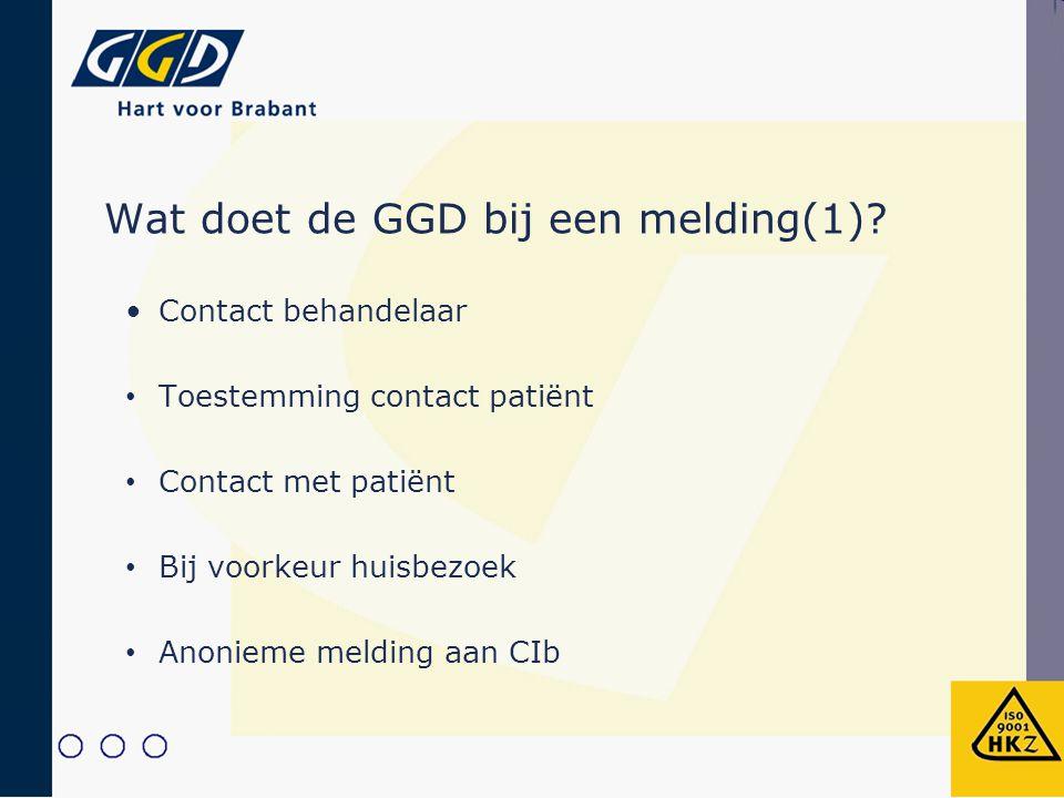 Wat doet de GGD bij een melding(1)