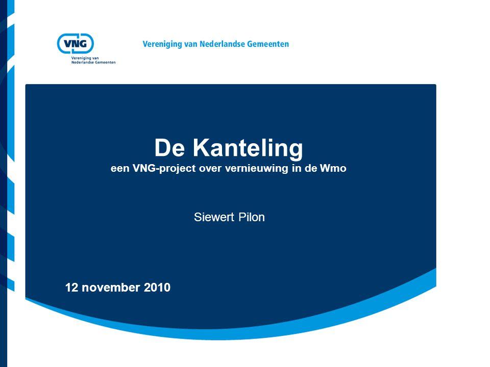De Kanteling een VNG-project over vernieuwing in de Wmo