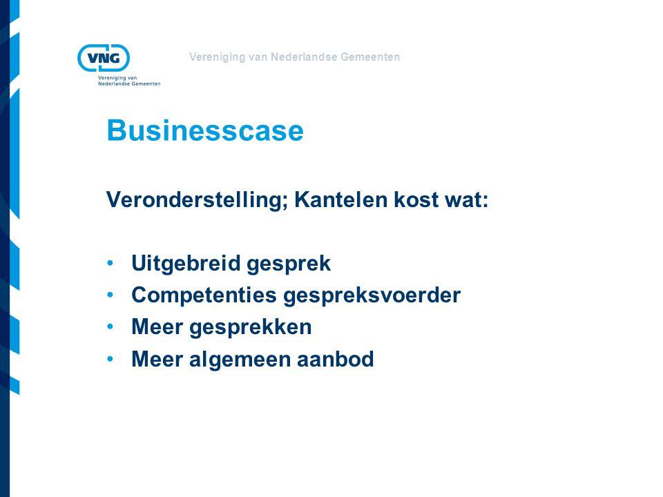 Businesscase Veronderstelling; Kantelen kost wat: Uitgebreid gesprek