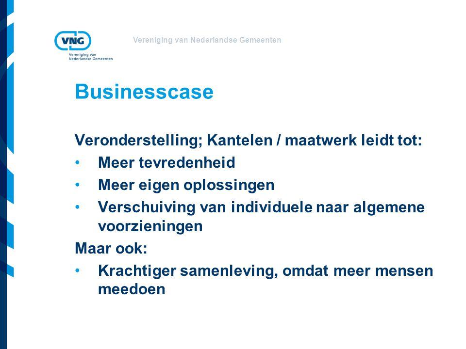 Businesscase Veronderstelling; Kantelen / maatwerk leidt tot: