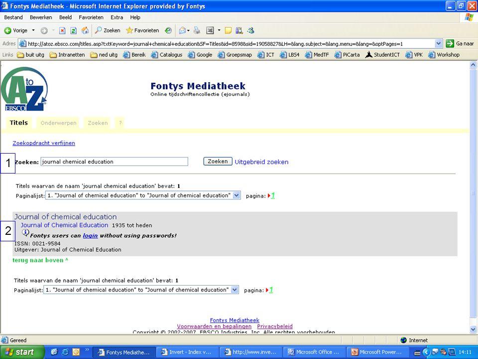 1 2 Voorbeeld van los online tijdschriftabonnement.