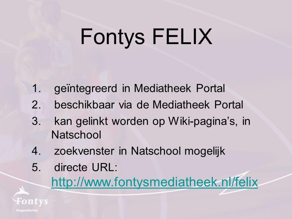 Fontys FELIX geïntegreerd in Mediatheek Portal