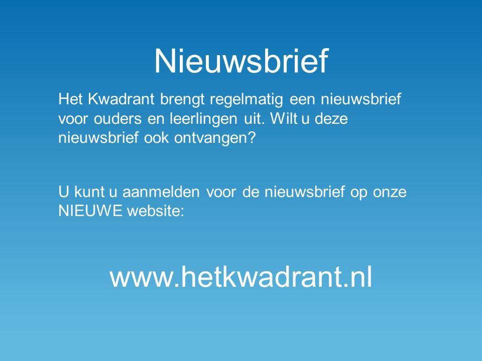 Nieuwsbrief www.hetkwadrant.nl