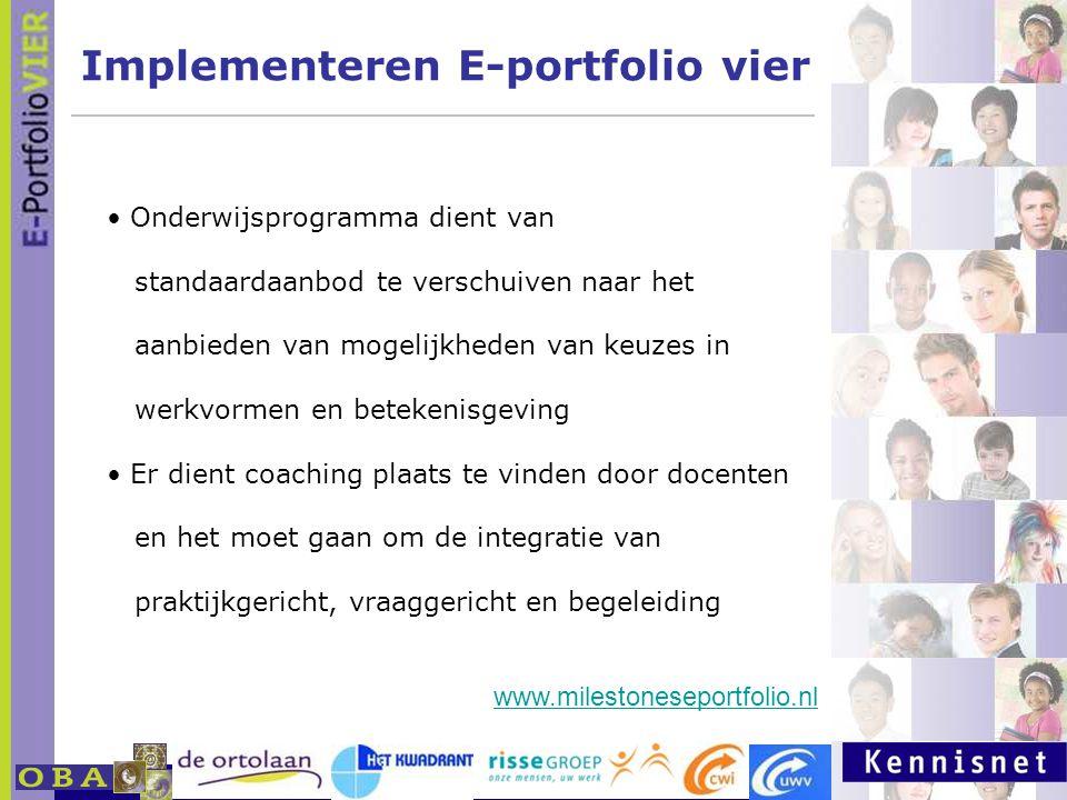 Implementeren E-portfolio vier