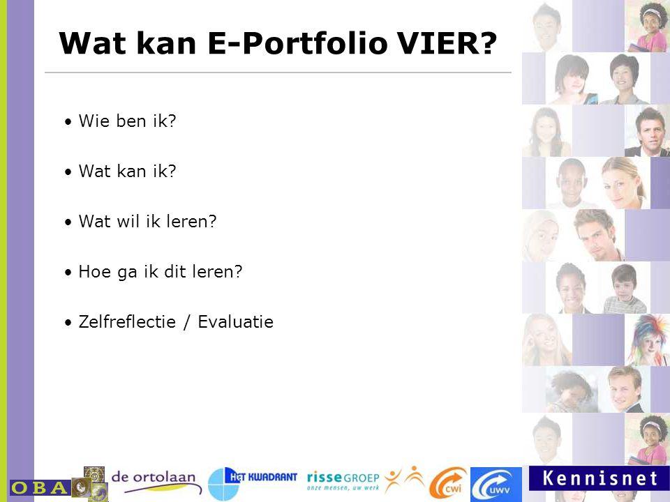 Wat kan E-Portfolio VIER