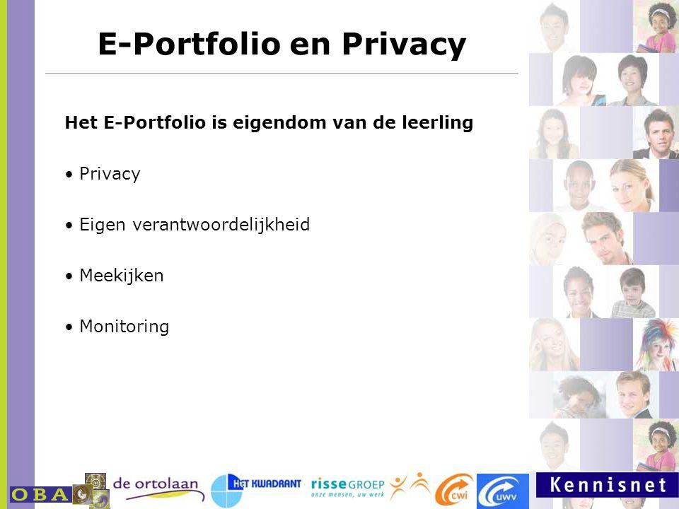 E-Portfolio en Privacy