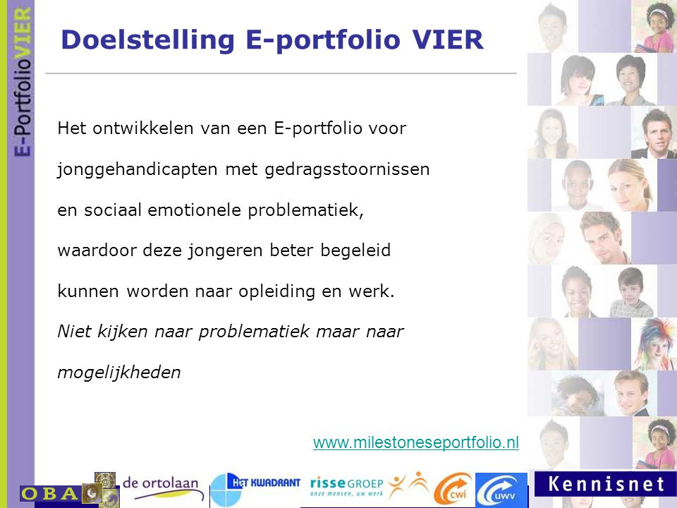 Doelstelling E-portfolio VIER