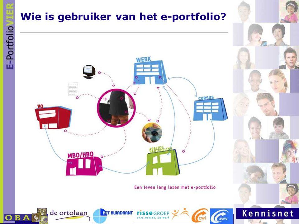 Wie is gebruiker van het e-portfolio