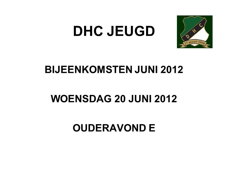 BIJEENKOMSTEN JUNI 2012 WOENSDAG 20 JUNI 2012 OUDERAVOND E