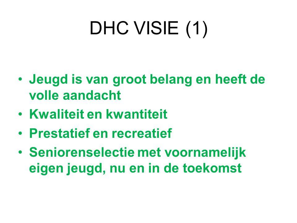 DHC VISIE (1) Jeugd is van groot belang en heeft de volle aandacht