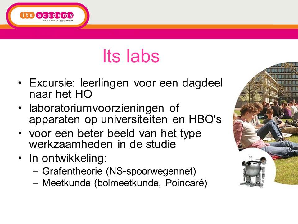 Its labs Excursie: leerlingen voor een dagdeel naar het HO