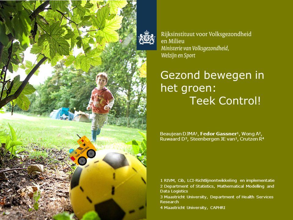 Gezond bewegen in het groen: Teek Control!