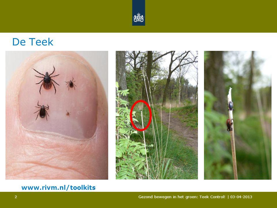 De Teek www.rivm.nl/toolkits