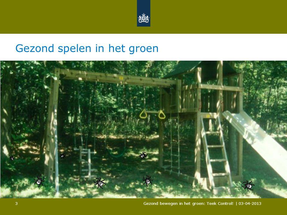 Gezond spelen in het groen