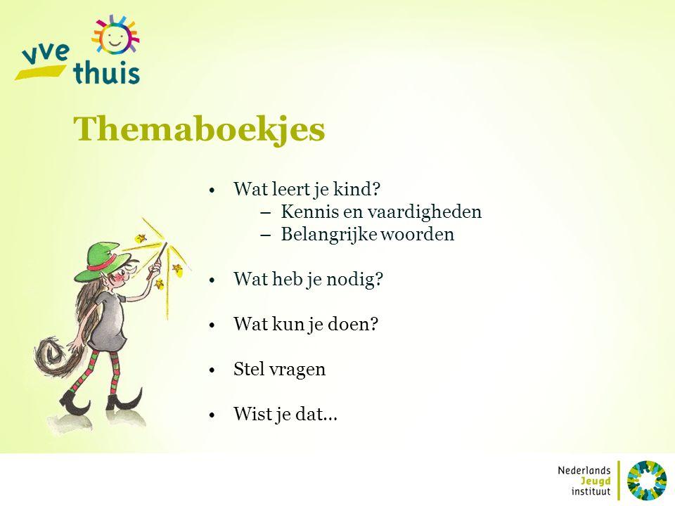 Themaboekjes Wat leert je kind Kennis en vaardigheden