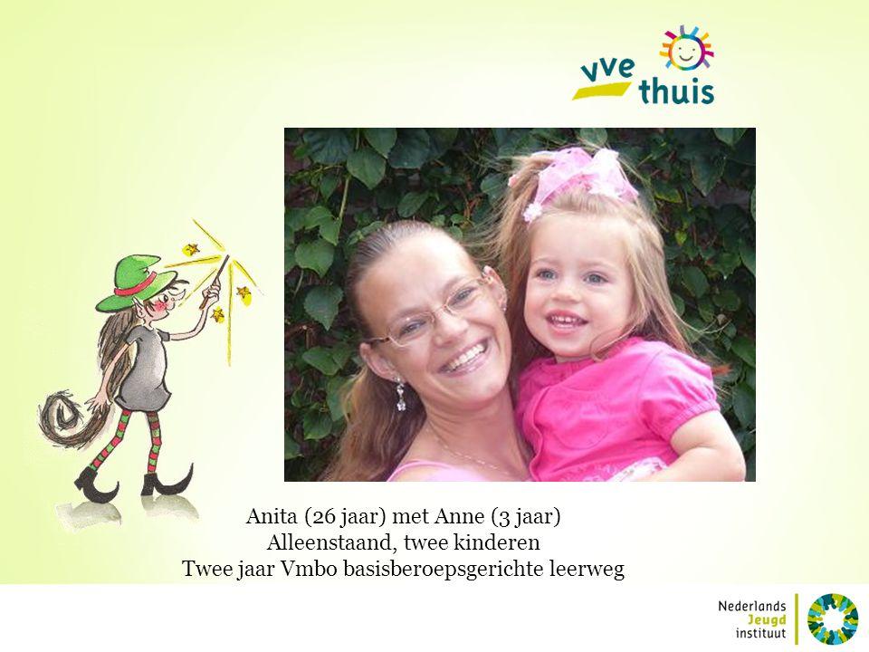 Anita (26 jaar) met Anne (3 jaar) Alleenstaand, twee kinderen