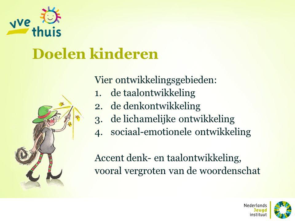 Doelen kinderen Vier ontwikkelingsgebieden: de taalontwikkeling