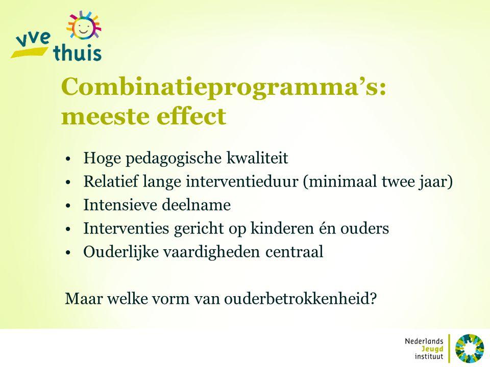Combinatieprogramma's: meeste effect